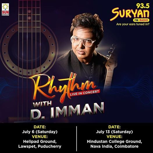 RHYTHM LIVE IN CONCERT WITH D.IMMAN – COIMBATORE